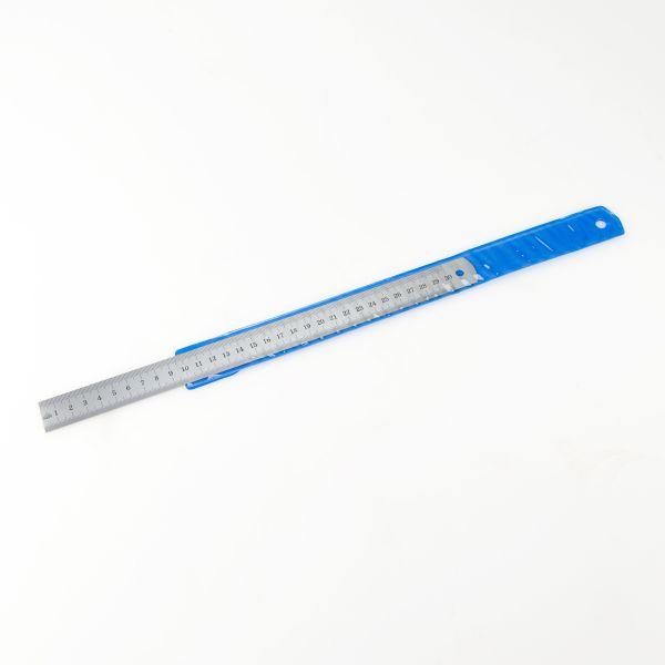Stahlmaßstab 1 mm / 0,5 mm mattverchromt