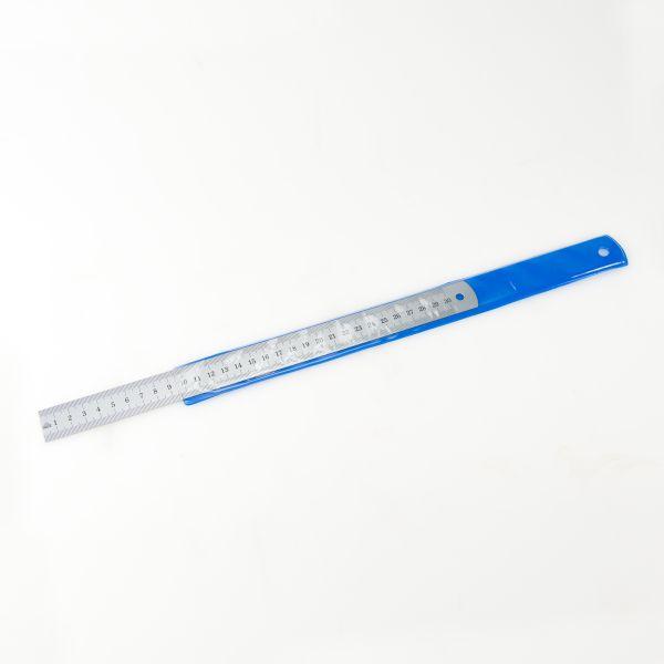 Stahlmaßstab 1 mm / 1 mm mattverchromt